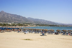 Beach in the Puerto Banus Royalty Free Stock Photo