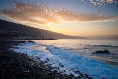 Beach in Puerto de la Cruz Royalty Free Stock Images