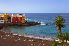 Beach in Puerto de la Cruz - Tenerife island (Canary) Stock Images