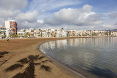 Beach in Puerto de Mazarron Royalty Free Stock Photos