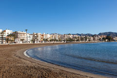 Beach in Puerto de Mazarron, Spain Royalty Free Stock Photos