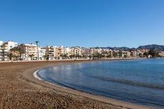 Beach in Puerto de Mazarron, Spain Royalty Free Stock Photos