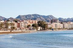 Beach in Puerto de Mazarron, Spain Stock Images