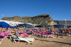 Beach of Puerto de Mogan Royalty Free Stock Photography