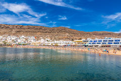 Beach In Puerto de Mogan, Gran Canaria, Spain Royalty Free Stock Photo
