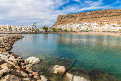 Beach In Puerto de Mogan, Gran Canaria, Spain Royalty Free Stock Photos