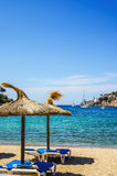 Beach at Puerto de Soller in Mallorca Stock Images