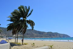 Beach of Puerto Lopez, Ecuador. Picture of Puerto Lopez beach, in the Pacific of Ecuador royalty free stock images