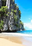 The beach of Puerto Princesa, Philippines. This photo was taken in Palawan island. El Nido Palawan Philippines has some of the most beautiful scenery we have Stock Image