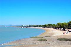 Beach of Puerto Real in Cadiz Stock Images