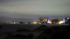 Beach puerto vallarta in night stock photo