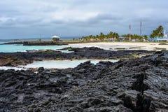 Beach of Puerto Villamil, Isabela island, Ecuador Stock Image