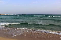Beach of Puglia. Sea and sand of the beaches of Puglia royalty free stock photography