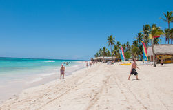 Beach in Punta Cana, Dominican Republic Stock Photos