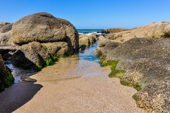 On the beach in Punta del Diablo in Uruguay Royalty Free Stock Photography