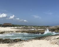 Beach at Punta Sur. In Cozumel, Mexico Stock Photography