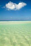 The beach of Qalansiya on the island of Socotra Royalty Free Stock Photo