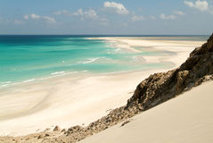 The beach of Qalansiya on the island of Socotra Royalty Free Stock Photos