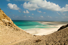 The beach of Qalansiya on the island of Socotra Stock Image