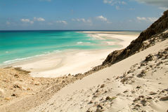 The beach of Qalansiya on the island of Socotra Royalty Free Stock Images