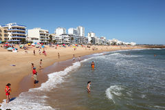Beach in Quarteira, Algarve Portugal Royalty Free Stock Photography