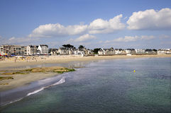 Beach of Quiberon in France Stock Images