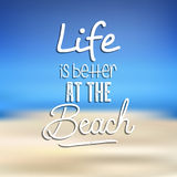 Beach quote background Stock Images