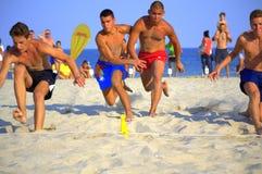 Beach race final battle Stock Photo