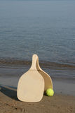 Beach rackets stock photo