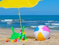 Beach rackets and ball Royalty Free Stock Photos