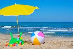 Beach rackets and ball Stock Photo