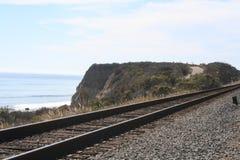 Beach Railroad Stock Photo