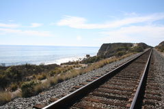 Beach Railroad Stock Photography