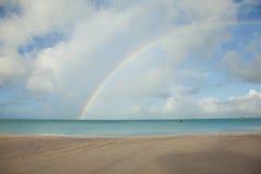 Beach with rainbow Royalty Free Stock Photography