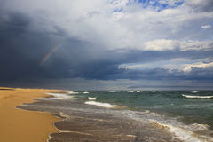 Beach Rainbow Hor Stock Photos
