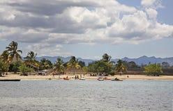 Beach in Rancho Luna. Caribbean Sea. Atlantic Ocean Stock Image