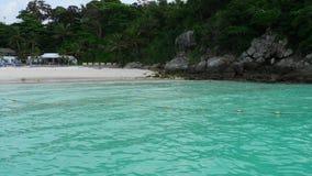 Beach of Raya Island, Thailand. Sandy beach of Koh Racha Yai Island, Thailand stock video footage