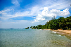 Beach in Rayong, Thailand Royalty Free Stock Image