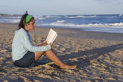 Beach reader Royalty Free Stock Image