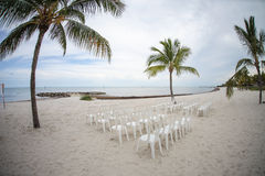 Beach ready for ceremony Stock Images