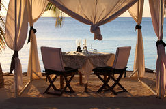 Beach reastaurant Zanzibar. Restaurant on the beach in Zanzibar, Africa Royalty Free Stock Images