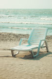 Beach recliner Royalty Free Stock Photos