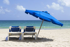 Beach reclining set Royalty Free Stock Images