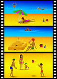 Beach recreation slides. Stock Images