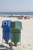 Beach Recycle Bins Royalty Free Stock Images