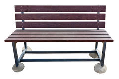 Beach red bench Royalty Free Stock Image