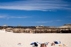 Beach on the red sea. Fogoten things on the  beach of  the red sea Royalty Free Stock Photography