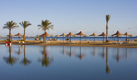 Beach on Red sea, Hurghada, Egypt stock images