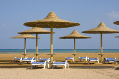 Beach on Red sea, Hurghada, Egypt Stock Photography