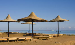 Beach on Red sea, Hurghada, Egypt Stock Image